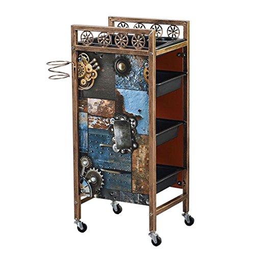 Trolleys Peaceip Schubladen Tiers Multifunktionstrolley Friseursalon Ablagefach Friseur Schönheit Make-up Warenkorb (Farbe : #2, größe : Five Floors) -