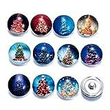 Homeofying 12Pcs Weihnachtsbaum Santa Claus Decor DIY Nähen Handwerk Werkzeug Emaille Glasknopf 2#