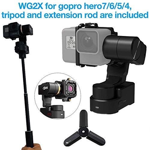 Feiyu Tech WG2x 3 assi Wearable Gimbal per Gopro Hero 6/5/4, GoPro Session,  Yi 4 K, AEE, SJCAM e simili dimensioni, con borsa per il trasporto, Asta