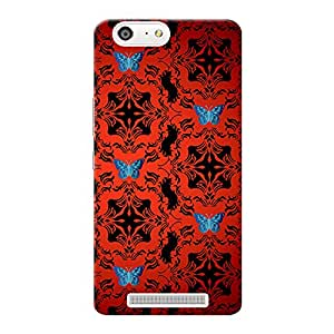 INKIF Warrior Abstract Designer Case Printed Mobile Back Cover for Gionee Marathon M5 (Red)