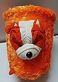 Punyah Creations Cute Small/Mini Dustbin with Detachable Swing Top Cartoon - Plastic Mini Office/Home/Child Use Bin Plastic Dustbin (Color_Orange)