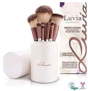 Luvia Cosmetics – Prime Vegan Make Up Pinselset mit 15 Schminkpinsel im Set – Vegane Kosmetikpinsel ideal als Geschenkidee oder als Muttertag Geschenk