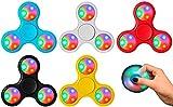 Licht Finger Spinner Fidget Spielzeug für Kinder und Erwachsene (Rot)