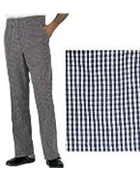 Harrogate Denny Chef Shop es negro y de color blanco Cook pantalones Chef de cocina diseño de cuadros