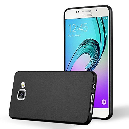 Preisvergleich Produktbild Cadorabo Silikon Hülle für Samsung Galaxy A5 2016 (6) in Metallic Schwarz