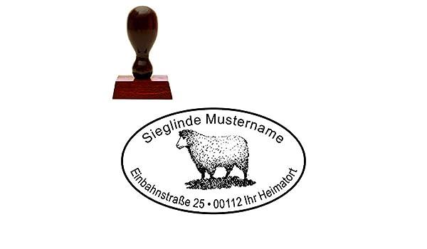 Stempel « Schaf » Adressenstempel Motivstempel Holzstempel
