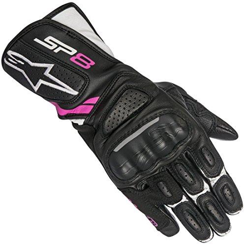 Alpinestars 1694380303 Motorrad Handschuhe, Schwarz/Weiss/Fuchsia, M