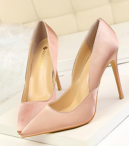 Wealsex spitze damen pumps stiletto high heels Pink