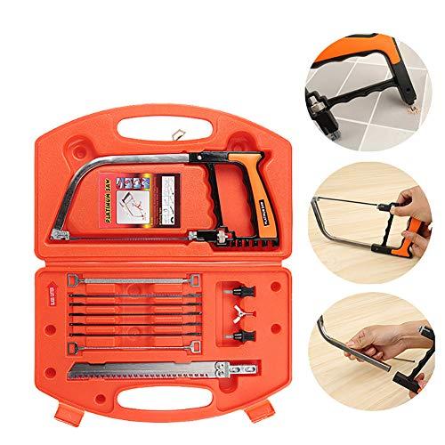 Cozywind Magic Handsäge-Set, Mehrzweck-DIY Bügelsäge Bügelsäge Universalsäge Holzbearbeitungswerkzeug zum Schneiden von Holz, Kunststoff, Glas, Fliesen, Metall, Seil, PVC-Rohr, Gummi