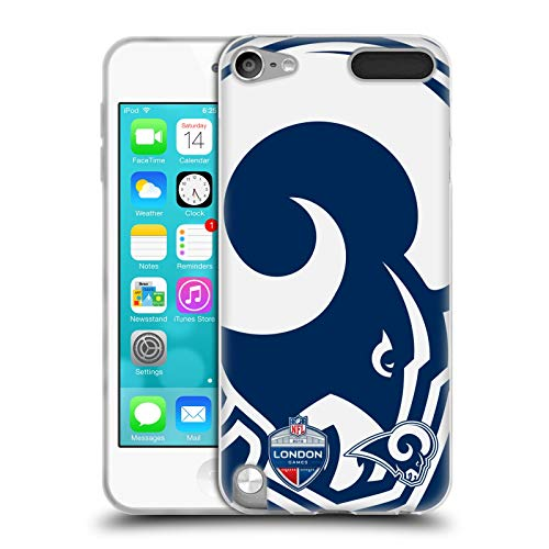 Ipod Touch Ram (Head Case Designs Offizielle NFL Oversized Rams 2019 London Games Soft Gel Huelle kompatibel mit Apple iPod Touch 5G 5th Gen)