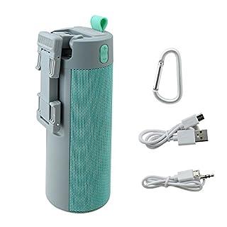 ANGGO Bluetooth Selbstauslöser-Stick mit Lautsprecher, Tragbarer Outdoor Multifunktions Selfie Stick, Power Bank / Telefon Standhalter / Lautsprecher (Blau)