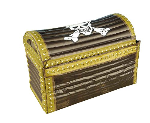 n's Inflatable Treasure Chest, Multi-color, One Size (Lady Pirate Make-up)