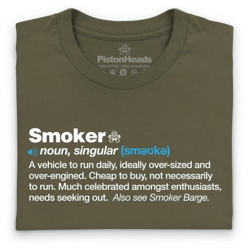 PistonHeads Smoker T-Shirt, Herren Olivgrn