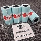 Adesivi ufficiali, carta per stampa termica, 57 x 30 mm, 9 rotoli