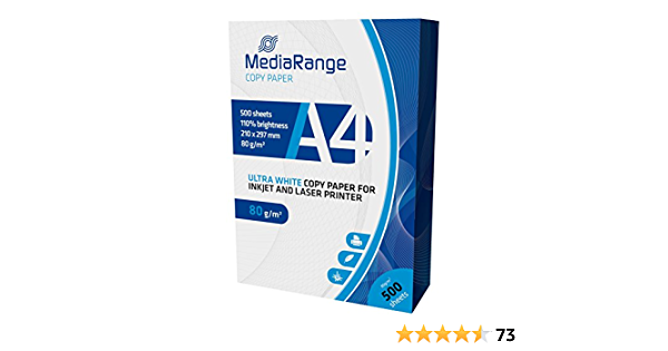 Media Range MRINK110 Papier Photocopieur A4 Blanc