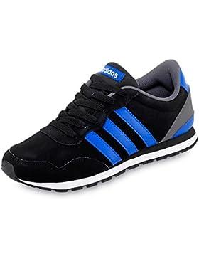 Adidas V Jog K, Zapatillas de Deporte Unisex Niños