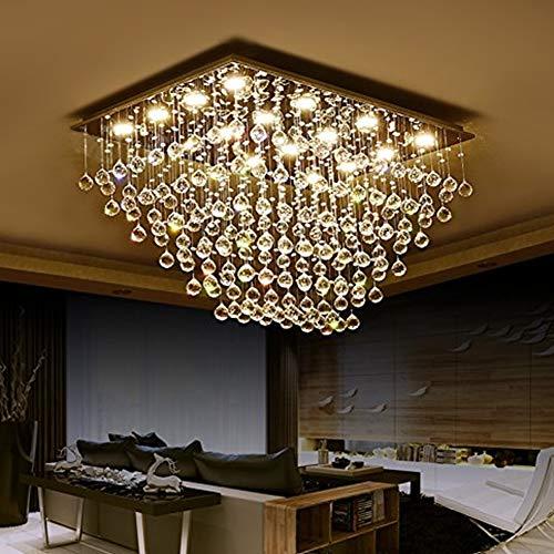 Modern K9 Crystal Raindrop Chandelier,Beleuchtung Spülhalterung Led-licht,Einrichtung Pendelleuchte Für Esszimmer Schlafzimmer Schlafzimmer Wohnzimmer -