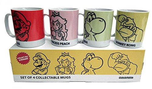 Super Mario coleccionable de 4 Taza Set