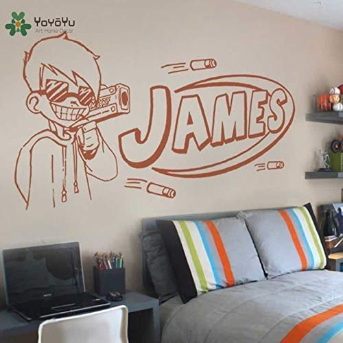 Wall Decal Vinyl Art Room Decoration Nerf Guy Gun Inspired Bedroom Wall Sticker Boys Personalised Home Mural 42X66cm