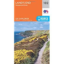 Land's End, Penzance and St Ives 1 : 25 000 (OS Explorer Map)