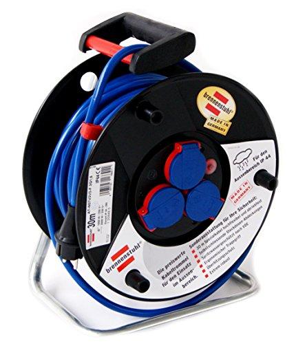 Preisvergleich Produktbild Brennenstuhl 1208480  Kabeltrommel IP44,  3G1.5, 3 x 230 V,blau