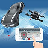 Jiayuane Mini abejón plegable con forma de coche, RC Quadcopter con cámaras FPV WiFi teléfono APP Control, modo sin cabeza, Flying Gift para niños