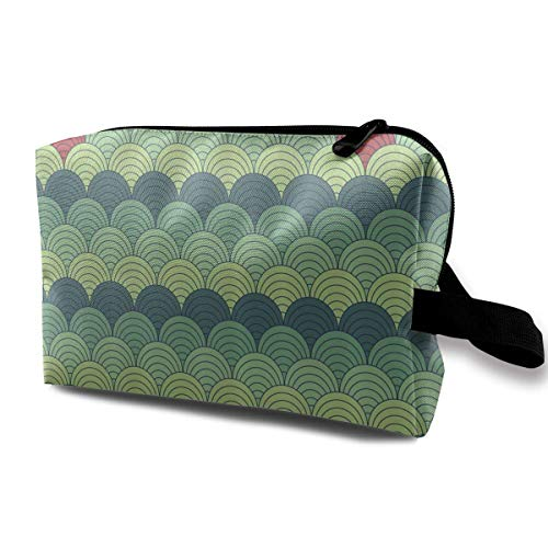 Reise-hängende Kosmetiktaschen Half Circles Ocean Waves Multi-Functional Toiletry Makeup Organizer travel makeup bag - Hawaiian Wave