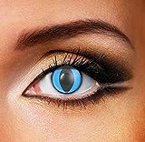 Funky Vision Kontaktlinsen - 3 Monatslinsen, Blue Cat, Ohne Sehstärke, 1 Stück