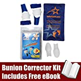 Bunion Corrector Toe Straightener Kit: Designed For Foot Pain Relief & Hallux Valgus (Includes FREE Icepack & eBook)