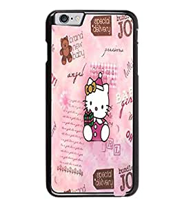 PrintDhaba Kitty D-3445 Back Case Cover for APPLE IPHONE 6 PLUS (Multi-Coloured)