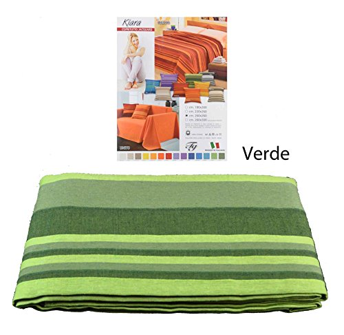 CASA TESSILE Kiara copriletto copridivano Telo arredo cm 180x260 - Verde
