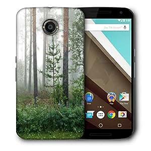 Snoogg Green Plants Designer Protective Phone Back Case Cover For Motorola Nexus 6
