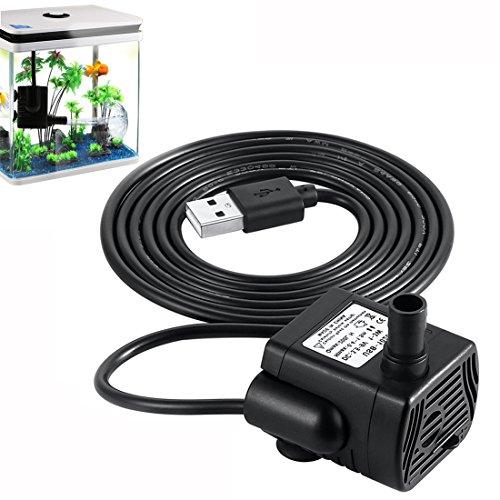 A-szcxtop 200L/H max1.5m DC3.5–9V usb-1020Wasserpumpe Brushless DC Mini Tauchpumpe Aquarium Fisch Brunnen Wasser Hydrokultur Hydrokultur-wasser-pumpe