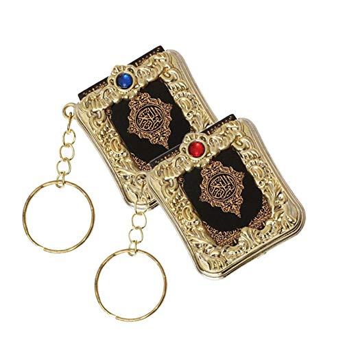 miraculocy Keychain Islamischer Stil Kleine Exquisite Anhänger Mini Schlüsselanhänger Quran Kleine Anhänger Religiöse Schmuck Mini Koran Anhänger