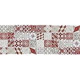 VINILIKO, Alfombra de vinilo, Antique, Rojo, 66x180 cm