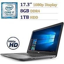 """2018 Dell Inspiron 17.3"""" FHD (1920x1080) Laptop PC, Intel Core I7-7500U Up To 3.50GHz, 8GB DDR4, 1TB HDD, AMD Radeon R7 M445, Backlit Keyboard, DVD +/- RW, HDMI, WiFi, Bluetooth, Windows 10"""