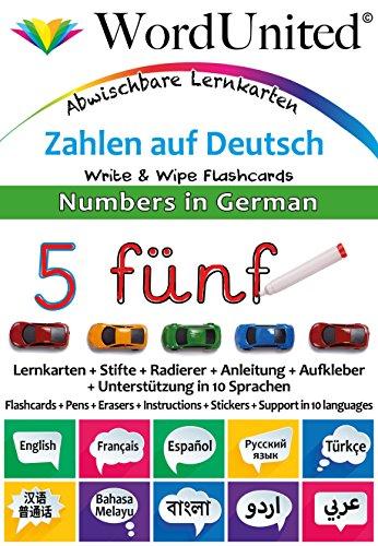Numbers in German: Write & Wipe Flashcards