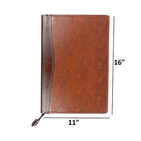 AmazingHind Leatherette Material Professional Files Folders to Hold the Certificates and Important Documents (20 Leafs, Size-FS)