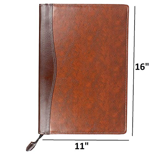 Amazinghind Leatherette Material Professional Files and Folders, Certificate, Documents Holder with 20 Leafs, | Size-B4, Color Black and Brown