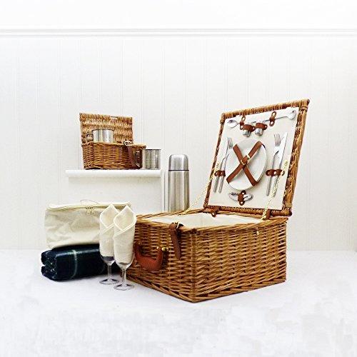 Cheltenham lujo para 2 personas cesta de picnic - ideas del regalo para - cumpleaños, navidad, boda, aniversario, compromiso, San Valentín, graduación, Corporativo, él, ella, mamá, papá, día de la madre, el día de padre, el 18, 21, 30, 40, 50 , 60, 70, 80, 90, número 100
