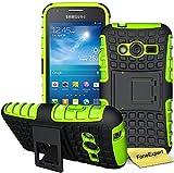 FoneExpert Samsung Galaxy Trend 2 Lite - Etui Housse Coque ShockProof Robuste Impact Armure Hybride Béquille Cover pour Samsung Galaxy Trend 2 Lite SM-G318H + Film de Protection d'Ecran (Vert)