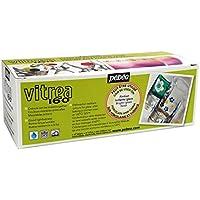 Pebeo Vitrea 160 - Set di 10 colori lucidi per vetro, 45 ml, colori assortiti