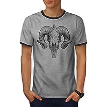 wellcoda Satan Horn Männer S-2XL T-Shirt Zurück