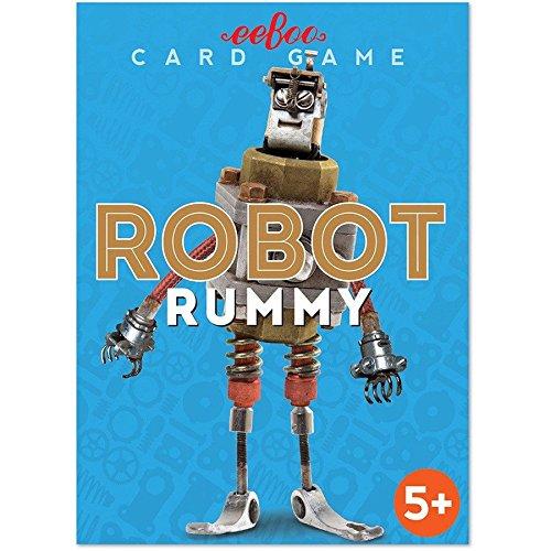 eeBoo 50540 Roboter Rommee Spielkarten (d,f,e)