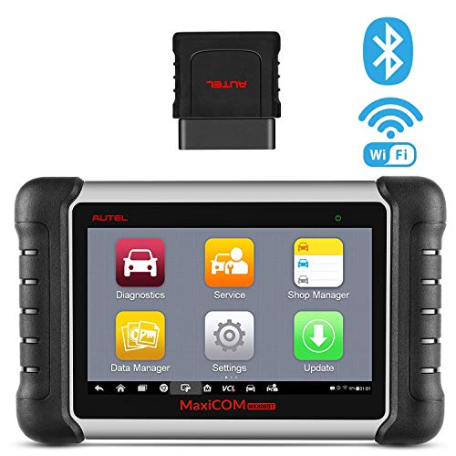 Autel MaxiCOM MK808BT OBD2 Diagnosegerät Auto Bluetooth Scanner mit Alles System & 23 Services Inkl. ABS Bremsblutung, TPMS, IMMO, Ölreset (MD808 Pro+MaxiCheck Pro) - Verbesserte Version von MK808
