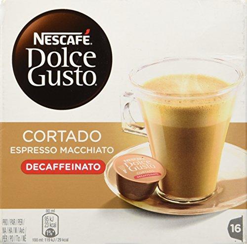 Nescafe Dolce Gusto - Cortado Decaffeinato - 16 Decaf Coffee Capsule by Dolce Gusto Coffee