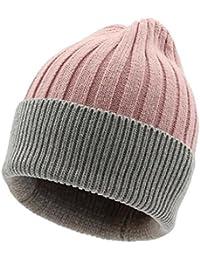 DT YMLE A Modelos Femeninos Sombrero Tejido Invierno Mantener Caliente Moda  Frío Tapa de línea Gorra 2de4474dec3