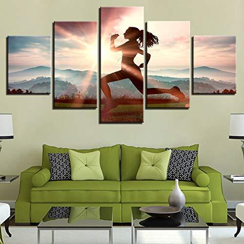 Immagini della Parete della Tela Home Decor for Living Room 5 Pezzi Campo di Calcio Giochi Sportivi Pittura HD Poster Stampato Quadro 1 40x60 40x80 40x100cm
