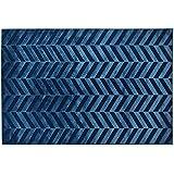 Alfombra Sitap estilo moderno dibujo Zig Zag Color Azul – Disponible en 3 tamaños Genova 38197 – 8585 – 52