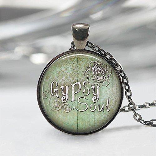 , Gypsy Soul Anhänger, Gypsy Halskette, Gypsy Anhänger, Gypsy Schmuck, Boho Halskette (Gypsy Für Halloween)